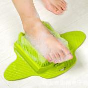 Zlimio Foot Cleaner and Scrubber Feet Massager Spa Brush for Men Women Kid Shower, Green