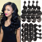 Maxine Brazilian Virgin Hair Body Wave Remy Human Hair 4Bundles Weaves 100% Unprocessed Hair Extensions Natural Colour 14 16 18 46cm