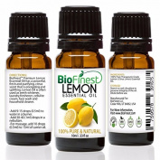 BioFinest Lemon Oil - 100% Pure Lemon Essential Oil - Therapeutic Grade - Italy Premium Quality - Best For Aromatherapy & Cleanser, Air Freshener & Purefier - . 10ml)