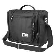 MIU colour Waterproof Hanging Toiletry Kit, Portable Travel Organiser Cosmetic Toiletry Bag for Bathroom Accessories and Personal Items, Makeup, and Shaving Kits