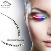 LED Eyelashes Light with 7 Colour Unisex Flashes Interactive Changing LED False Lashes Shining Eyeliner Perfect for Party Bar Nightclub Rave Halloween Christmas and Birthday.