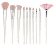 Unicorn Makeup Brushes Set Make up Brushes Professional Foundation Powder Eyeshadow Blending Concealer Cosmetics Tools Brushes Kit (White)
