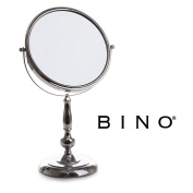 BINO 'The Beauty Queen' 23cm Double-Sided Mirror with 3x Magnification, Chrome