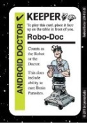 Star Fluxx Robo-Doc / Android Doctor Promo Game Card (KEEPER) [Toy] by Fluxx