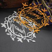 Metal Dies Christmas,Metal Cutting Dies Stencils Scrapbooking Embossing Diy Crafts Home Decor By Orangeskycn