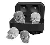 Halloween and Party DIY 3D Skull Skeleton Black Ice Cube Silicone Tray moulds Ice Cube Maker Kitchen Accessories