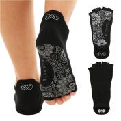 Ellaste Yoga Socks – Open Toe Non Slip Anti Skid Grip Sock for Yoga Pilates Barre – for Women Girl