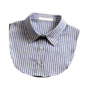 Women Fake Collar Half shirt Detachable Fake False Collar,Blue Stripe