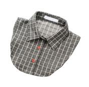 Detachable Shirt Collar Vintage Elegant Girls Women Fake False Faux Collar,E
