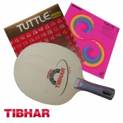 Racket Tibhar Champ FL Handle + Rubber Tuttle 888 + Sanwei T88-Taiji Plus