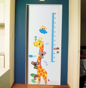 Kids Height Chart Wall Sticker Cartoon Giraffe Height Wall Decals