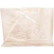 lenzuoline Cot Bright Billo and Ball Pack Of 3 Ivory with Embroidery
