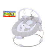 1,23Counting Sheep Musical Vibrating Bouncer Chair & A-Z 1st Book Bundle - Suitable From Birth