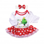 Baby Christmas Costume, KaloryWee Newborn Toddler Infant Baby Girl Romper Tutu Dress & Headband Christmas One-piece Dress Outfits Skirt Clothes