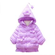 Saihui Baby Toddler Girls Autumn Winter Hooded Coat Cloak Jacket Thick Warm Clothes