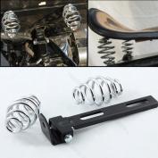 SUNDELY® 7.6cm Coiled Solo Seat Springs + Mounting Bracket for Harley Chopper Bobber
