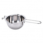 Dreammy Stainless Steel Chocolate Melting Pot Furnace Heated Milk Bowl with Handle Heated Butter Baking Pastry Kitchen Tool