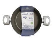 Officine Standard 0776 Induction Non-Stick Casserole 2 Handles, Aluminium, Grey/Black