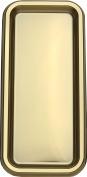 MOZAIK 2 Gold Plastic Rectangular Platters 35x16cm
