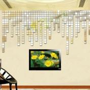 100 Pcs Acrylic 3D Wall Sticker Mirror Effect Home Decor DIY