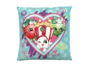 Shopkins Heart Bursts Plush 30cm Decorative Toss/Throw Pillow with Strawberry Kiss, apple Blossom & Poppy Corn