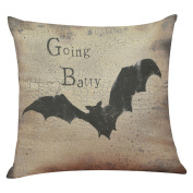 Birdfly Halloween Decor Vintage Faded Designs Throw Pillow Cases Funny Cartoons Flax Square Cushion Covers Decorative Pillowcase Home Office Kids Room Sofa Party Car Cafe Decoration