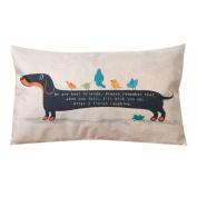 Home Decor Cute Rectangle Dog Puppy Pillowcase,Aritone Linen Cotton Sofa Pillow Cover 30cm x 50cm