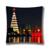 Square 41cm x 41cm Zippered christmas city Pillowcases Digital Print Adults Kids Cushion Covers