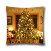 Square 41cm x 41cm Zippered Christmas Pillowcases Digital Print Adults Kids Cushion Covers