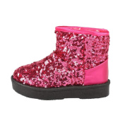 Inverlee Infant Toddler Unisex Baby Girls Winter Thick Snow Boots with Shinning Sequins Shoes