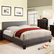 Besson Platform Twin Bed - Grey Fabric