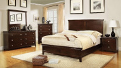 Haggerston Casual Full Bed - Brown Cherry Wood