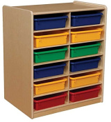 12-Letter Tray Storage Unit with 7.6cm . Assorted Trays
