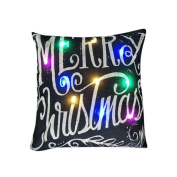 Muranba The New Colour Lights Christmas Sofa, Coffee Shop, Library,Book store, Party, Club,Pillow LED Lights Pillow Creative Printing Linen