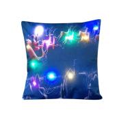 Muranba The New Colour Lights Christmas Pillow LED Lights Pillow Creative Printing Linen