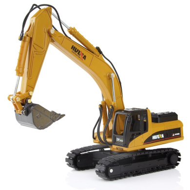 Geyiie Alloy Excavator Model Toy 1:50 Diacast Caterpillar Engineering Construction Vehicle Gift for kids Decorate for Home