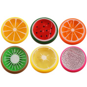 6 PCS Soft Fruit Crystal Kids Plasticine Slime Putty Toy For DIY Crafts School Projects