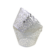 Filigree Artistic Bake Cake Paper Cups Little Vine Lace Laser Cut Liner Cupcake Wrappers Baking Cup Muffin Holder Case for Wedding/Birthday/Afternoon Tea Party Decoration
