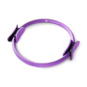 PharMeDoc Pilates Ring - 36cm Premium Exercise Fitness Circle to Sculpt, Shape, Burn Belly Fat & Tone Abs, Legs, Arms & Thighs - Total Body Gym, Yoga Resistance Training - Dual Grip Handles - Purple