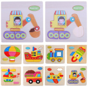 Domybest Baby Clothing Matching Puzzle Wooden Toys Eduactional Puzzle Games