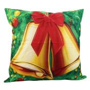 Xmas Decor Merry Christmas Print Pillowcase,Aritone Pillow Cover Linen Cotton Sofa Cushion Cover 46cm x 46cm