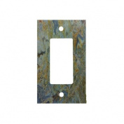 Tropical Green Granite Printed 1 Gang Decorator Dimmer Wall Plate