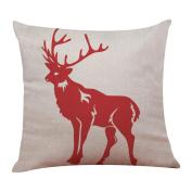 Christmas Pillow Case, Cotton Linen Sofa Cushion Cover Home Decor