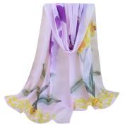 Women Chiffon Scarf, Xinantime Lady Fashion Floral Prints Shawl Scarf