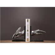 The Reader decorative metal bookend in black colour Finger resin crafts
