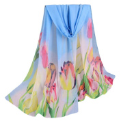 Women Scarves, Xinantime Lady Chiffon Floral Prints Shawl Scarf