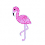 Flamingo 10 Iron On Embroidered Roses For Clothes, Scrapbooking, Sewing,.. 10 X 4 cm Open Buy