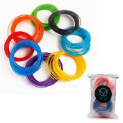 3D Pen Filament Refills 1.75mm PLA 384 Linear Feet Total 12 Different Colours (4 Glow in the Dark Colours Included) - . - Universal PLA Filament Bundle