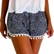Women Shorts, Familizo Women Polka Dot High Waist Tassel Shorts Summer Casual Short Pants