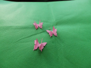 mums butterflies 10 3D intense pink plus diamonte 3cm x 3cm